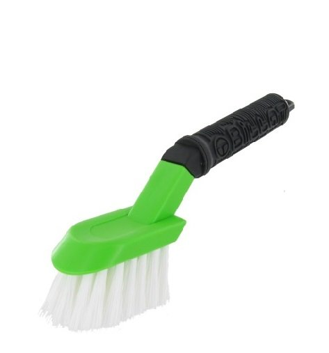 Special brush for wheel rims with TOP GRIP handle